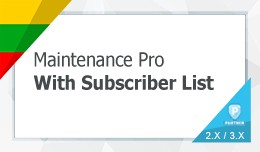 Advanced Maintenance Pro with subscribers