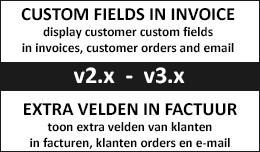 Custom Fields on invoice + / extra velden op fac..