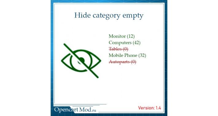 Hide category empty