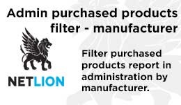 Admin purchased products report filter - manufac..