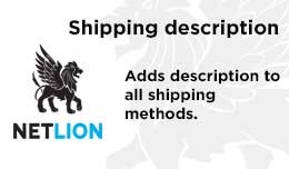 Shipping description