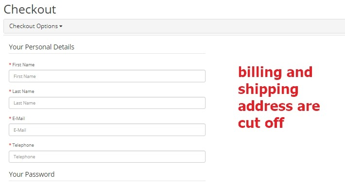 Remove billing and shipping address from the checkout