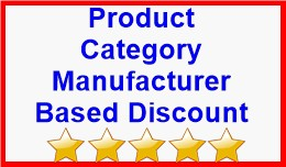 Product Category Manufacturer Based Discount