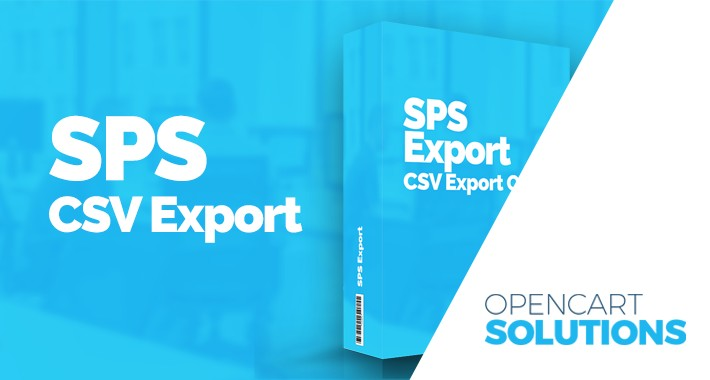 SPS CSV Export - Export objednávok / Export orders -  OC2.x