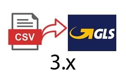 GLS CSV csomagfeladás export - 3.x verzió
