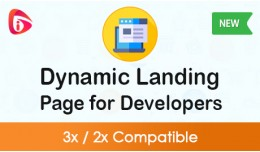 Dynamic Landing Page for Developers