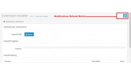 admin modifications refresh button in installer ..