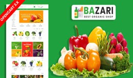 Bazari Organic & Grocery Ecommrce Website Te..