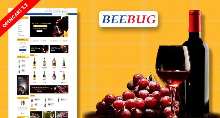 Beebug Drink & wine Ecommrce Opencart Website Template