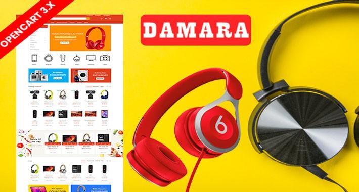 Damara Electronics Ecommrce Opencart Responsive Website Template