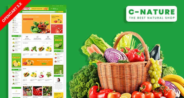 C-Nature Organic & Grocery Ecommrce Website Template