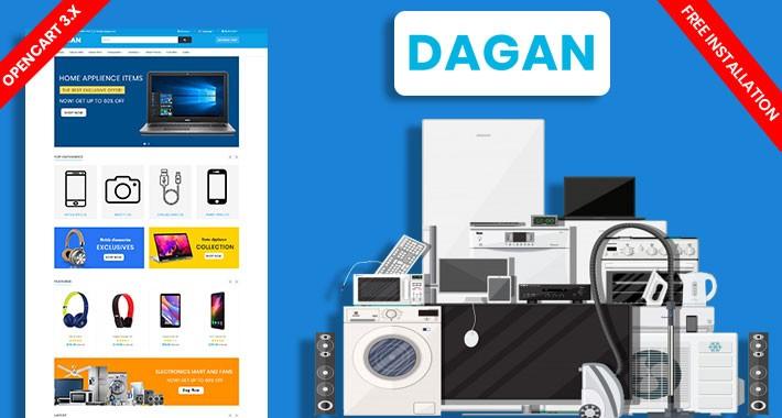 Dagan Electronics Ecommrce Opencart Responsive Website Template