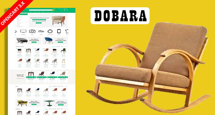 Dobara Furniture Ecommrce Opencart Website Template