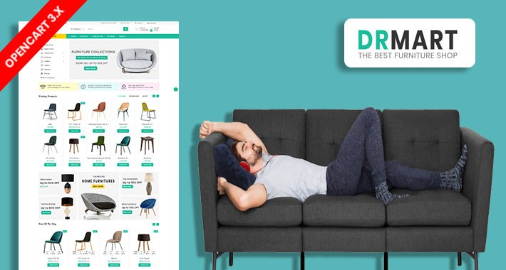 DR Mart Furniture Responsive Ecommrce Website Template