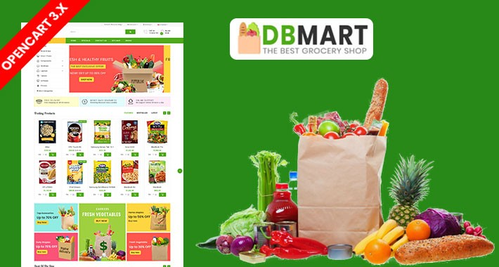DB Mart Grocery Ecommrce Website Opencart Template
