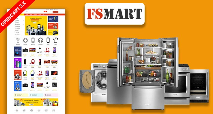 FS Mart Electronics Ecommrce Opencart Website Template