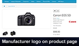 Manufacturer Logo on Product Page