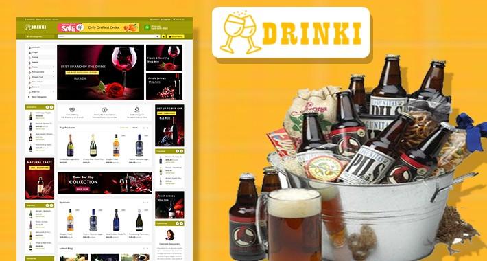Drinki wine & Drink Ecommrce Opencart Website Template
