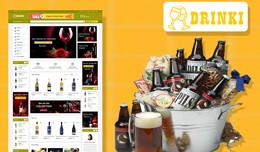 Drinki wine & Drink Ecommrce Opencart Websit..