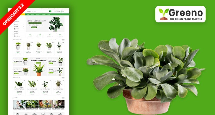 Greeno Plant & Home Plant Ecommrce Website Template