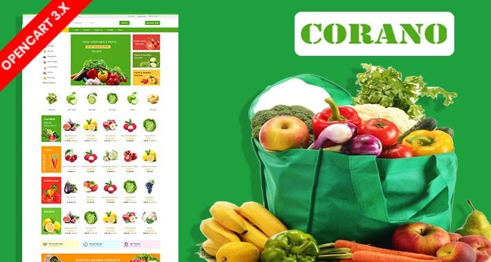 Corano Organic & Grocery Ecommrce Website Template
