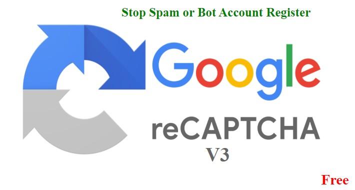 Recaptcha V3 / Captcha V3 For Account Registeration OCMOD