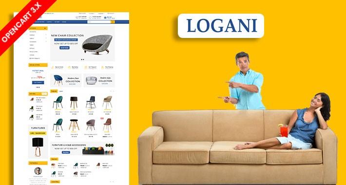 Logani Home & office Furniture Ecommrce Website Template