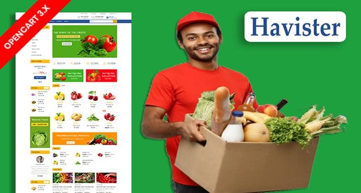 Havister Organic & Grocery Ecommrce Website Template