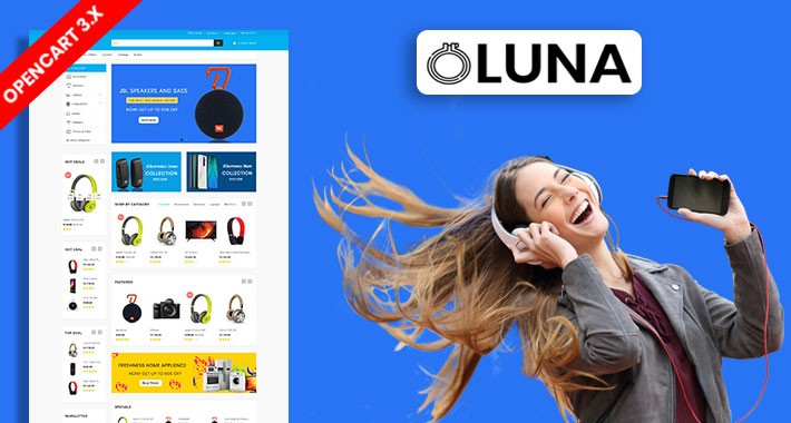 Oluna Electronics Ecommrce Opencart Responsive Website Template