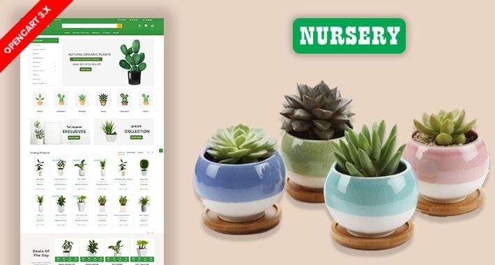 Nursery Plant & Home Plant Ecommrce Website Template