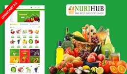 Nuri Organic & Grocery Ecommrce Website Temp..