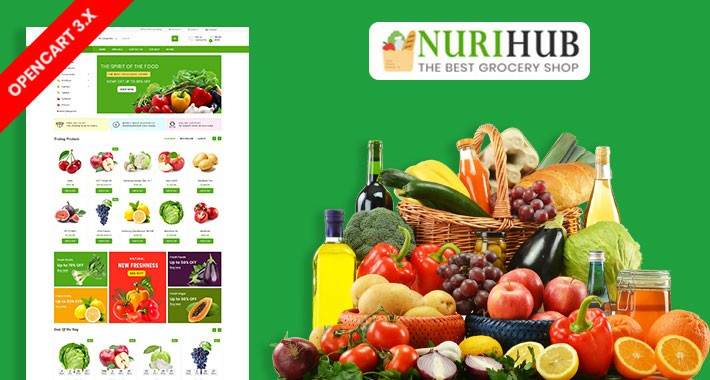 Nuri Organic & Grocery Ecommrce Website Template