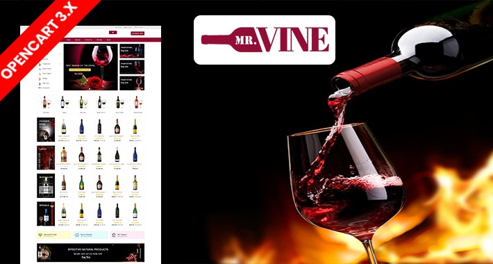 Mr.Wine & Drink Ecommrce Opencart Website Template