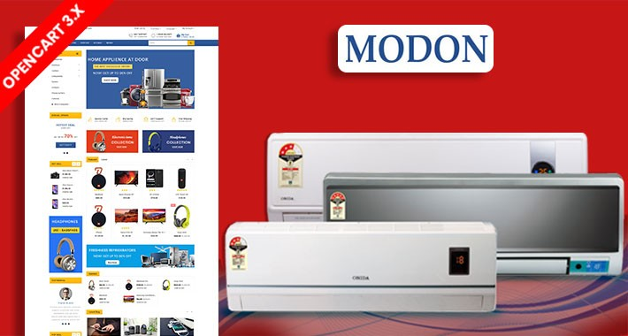 Modon Electronics Ecommrce Opencart Website Template
