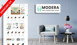 Modera Furniture Ecommrce Opencart Website Templ..