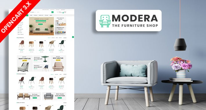 Modera Furniture Ecommrce Opencart Website Template
