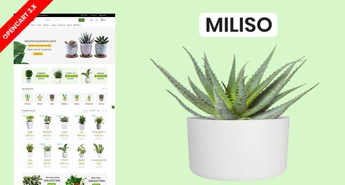 Miliso Plant & Garden Ecommrce Website Template
