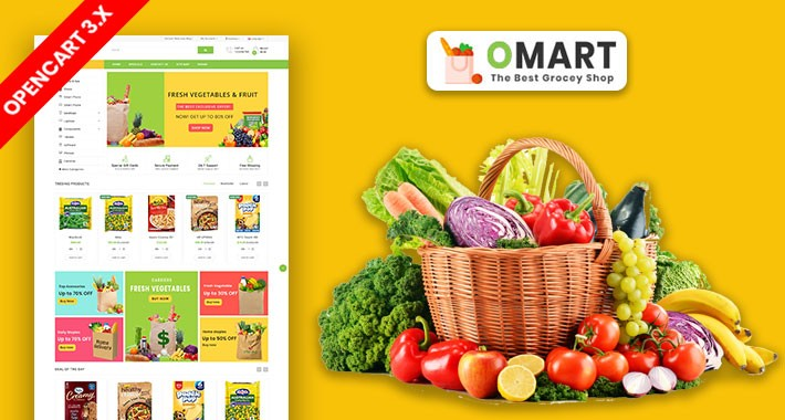 Omart Grocery And Daily Need Ecommrce Website Template