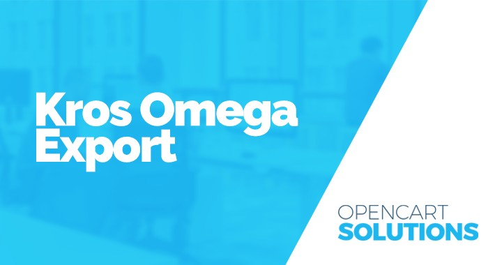 Export do účtovníckeho software Kros Omega 2.x