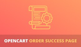 OpenCart Order Success Page