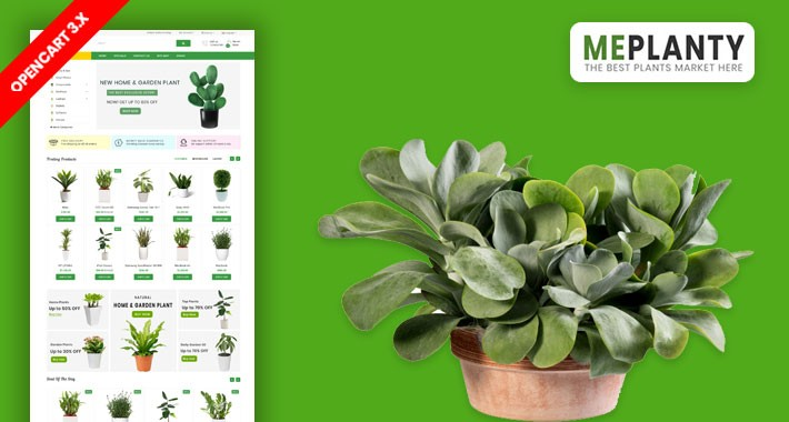 MePlantly Plant & Home Plant Ecommrce Website Template