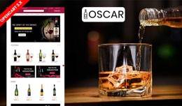 Oscar  wine Ecommrce Opencart Website Template