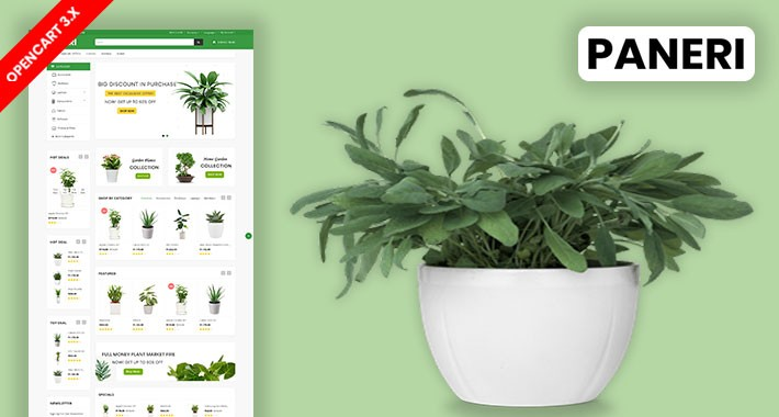 Paneri Plant & Home Plant Ecommrce Website Template