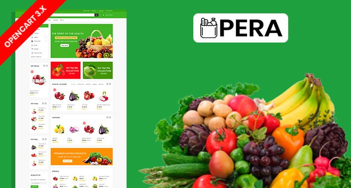 Pera Organic & Grocery Ecommrce Website Template