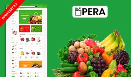 Pera Organic & Grocery Ecommrce Website Temp..
