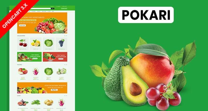 Pokari Organic & Grocery Ecommrce Website Template