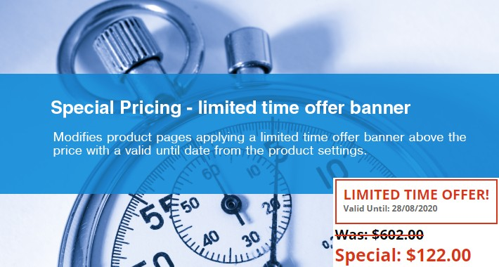 Special Pricing - Limited Time Offer