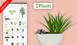 Planti Home & Plant Ecommrce Website Template