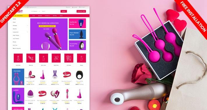Rabit SexToys & Adult Lingeris Ecommrce Website Template