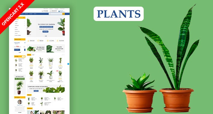 Plants & Home Plant Ecommrce Website Template